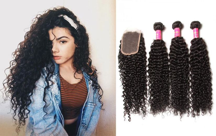 curly hair lace closure and frontal