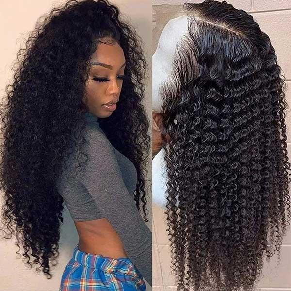 curly wave human hair wig