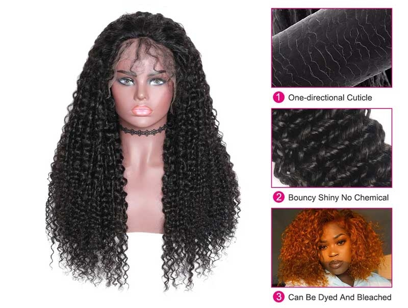 curly hair wig features