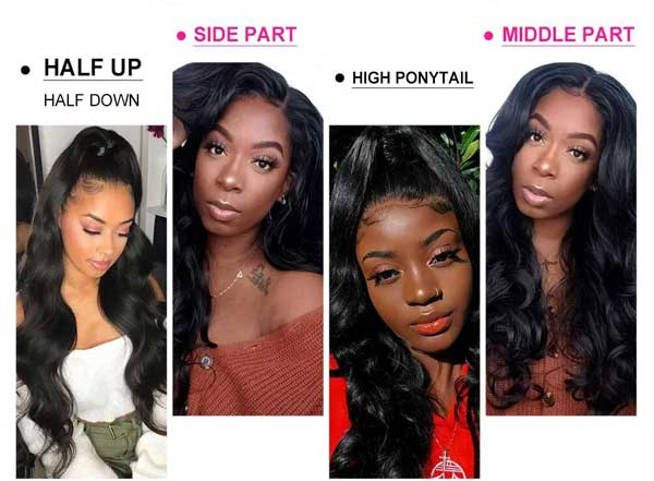different hairstyle for transparent lace wig