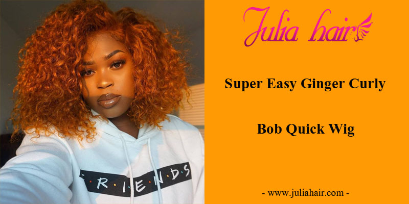 Super Easy Ginger Curly Bob Quick Wig