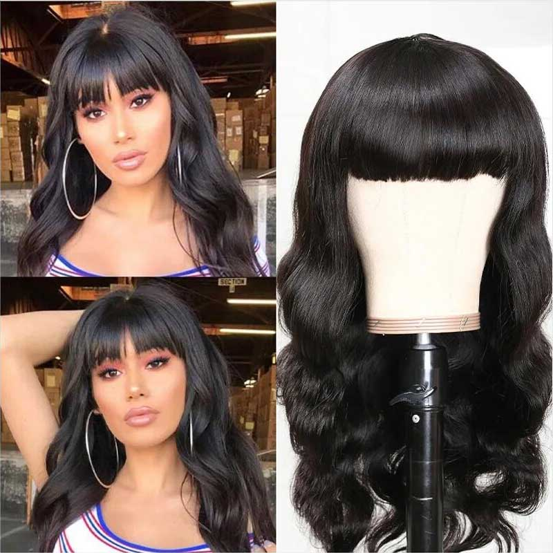 full bang body wave wigs