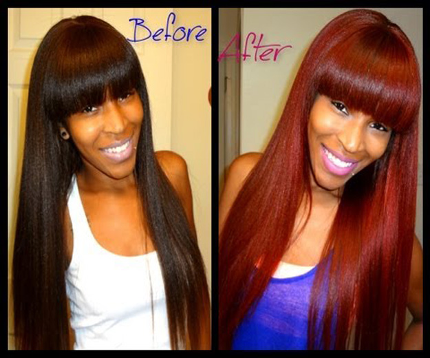 dye virgin hair before and after