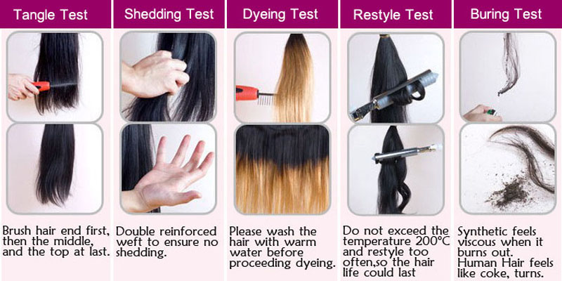 real virgin remy hair test