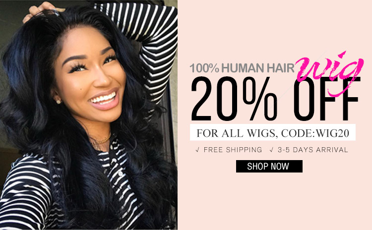 human hair wigs 20% off