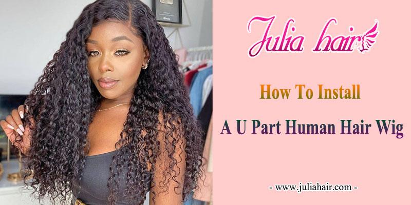 how to make a u part wig