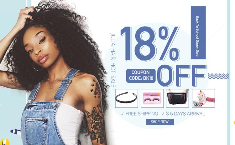 julia hair sale 18% off