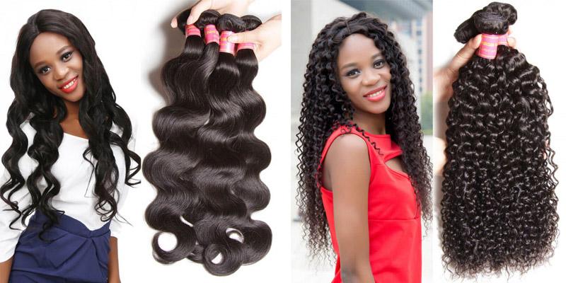malaysian curly hair and brazilian body wave