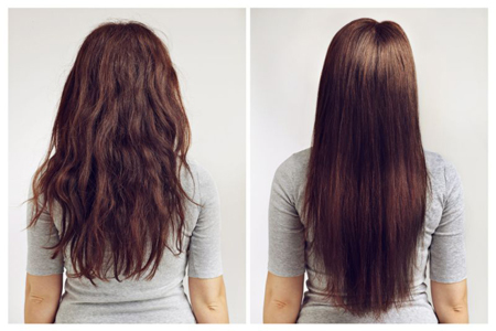 keratin treat before and after