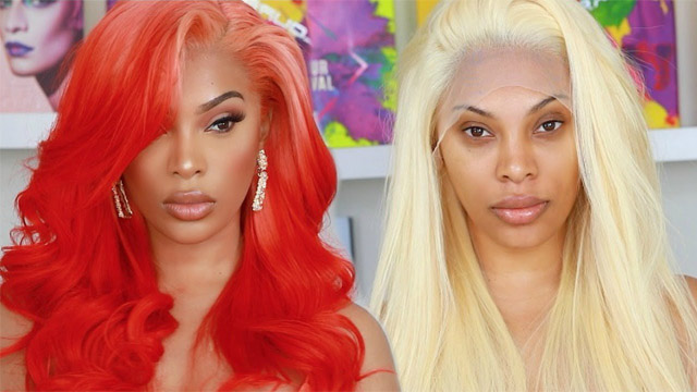 lace front wig transformation