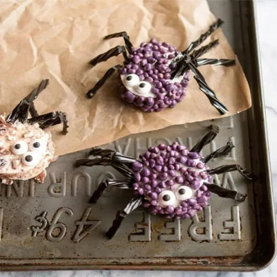 marshmallow-spiders