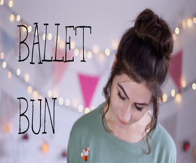 messy ballet bun with hair extensions