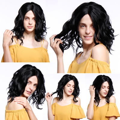 middle hair wigs