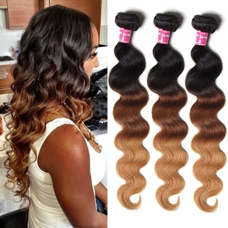 ombre blonde body hair wigs