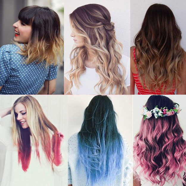ombre different hairstyle
