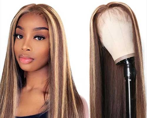 ombre highlight wig