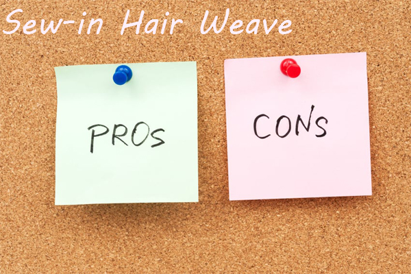 sew-in human hair weave pros and cons