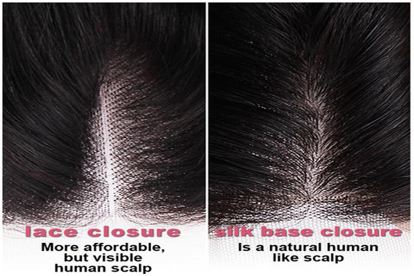 difference between silk base closure and lace closure