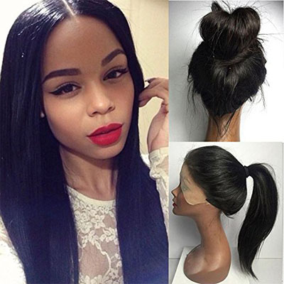straight hair lace frontal wig