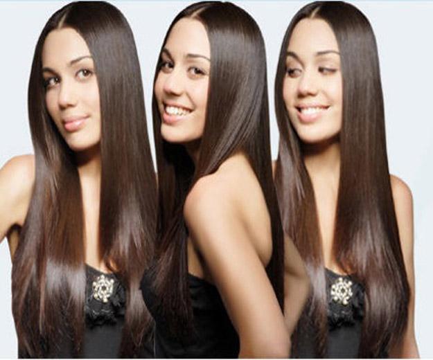 straight shiny hair