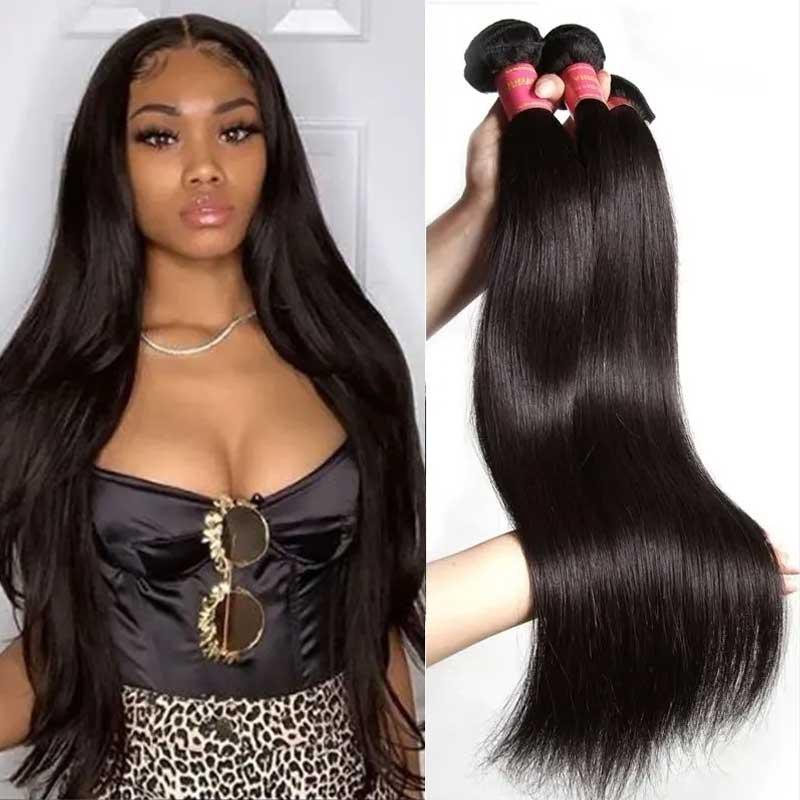 straight wave hair bundles