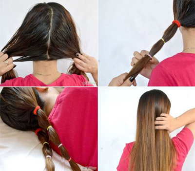 straighten hair without heat
