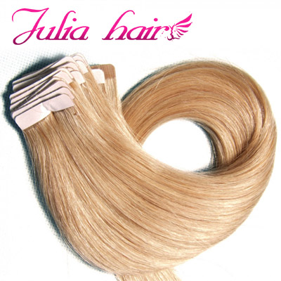 blonde tape-in hair extensions