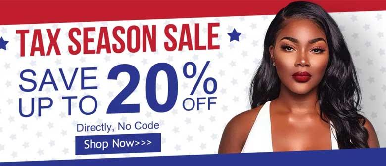 tax season sale for hair