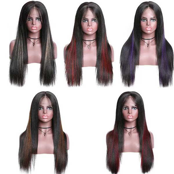 types of different highlight lace wig