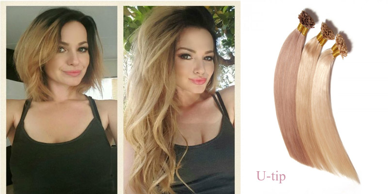 wear u-tip hair extensions before and after