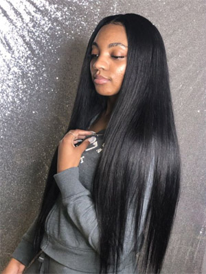 straight weave hair
