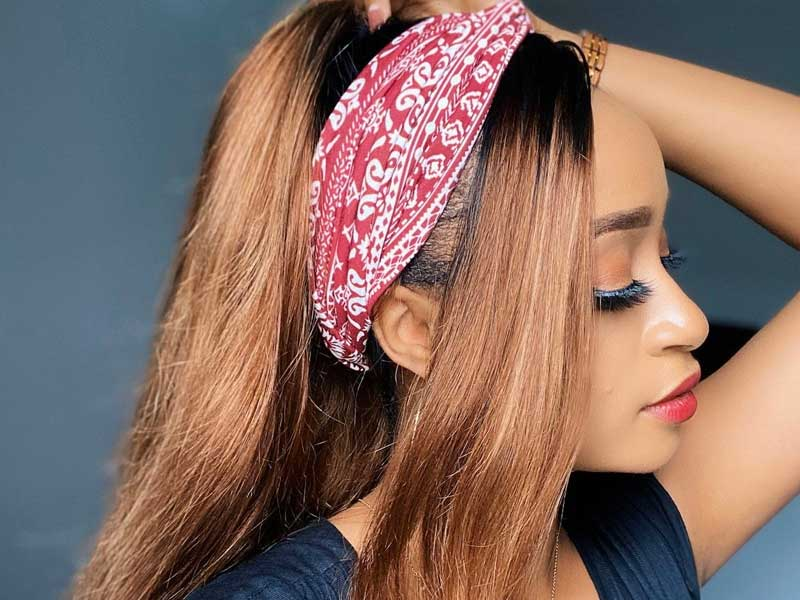 ombre blonde headband wigs