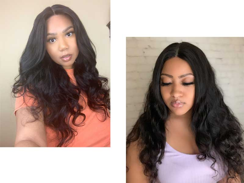 body wave T part wig