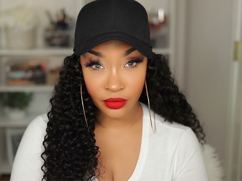 curly hat wigs
