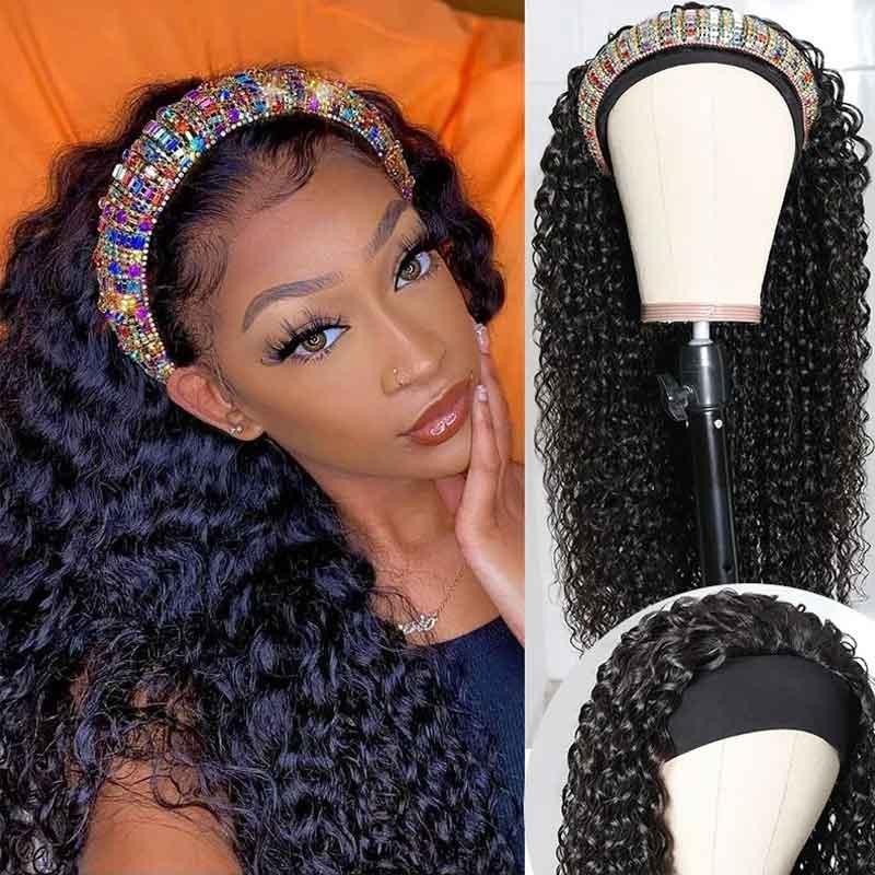 curly headband wigs