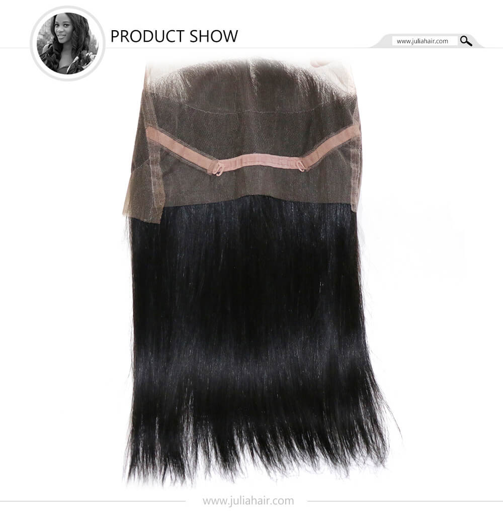360 straight lace frontal hair