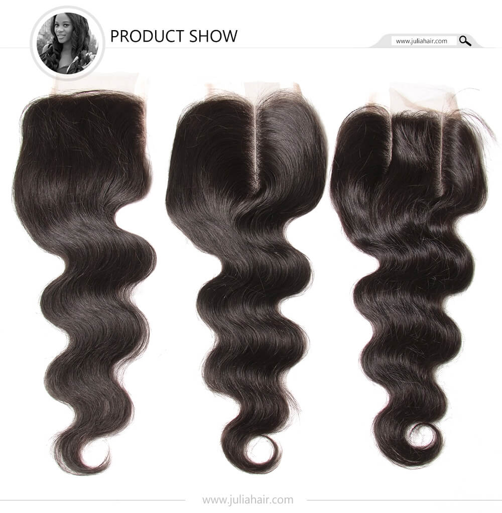 Julia Indian Virgin Hair Body Wave 3 Bundles With Closure