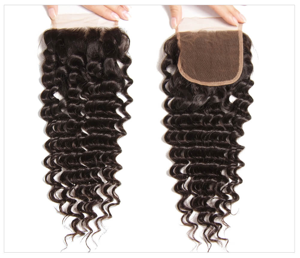 best quality deep wave human hair closure online