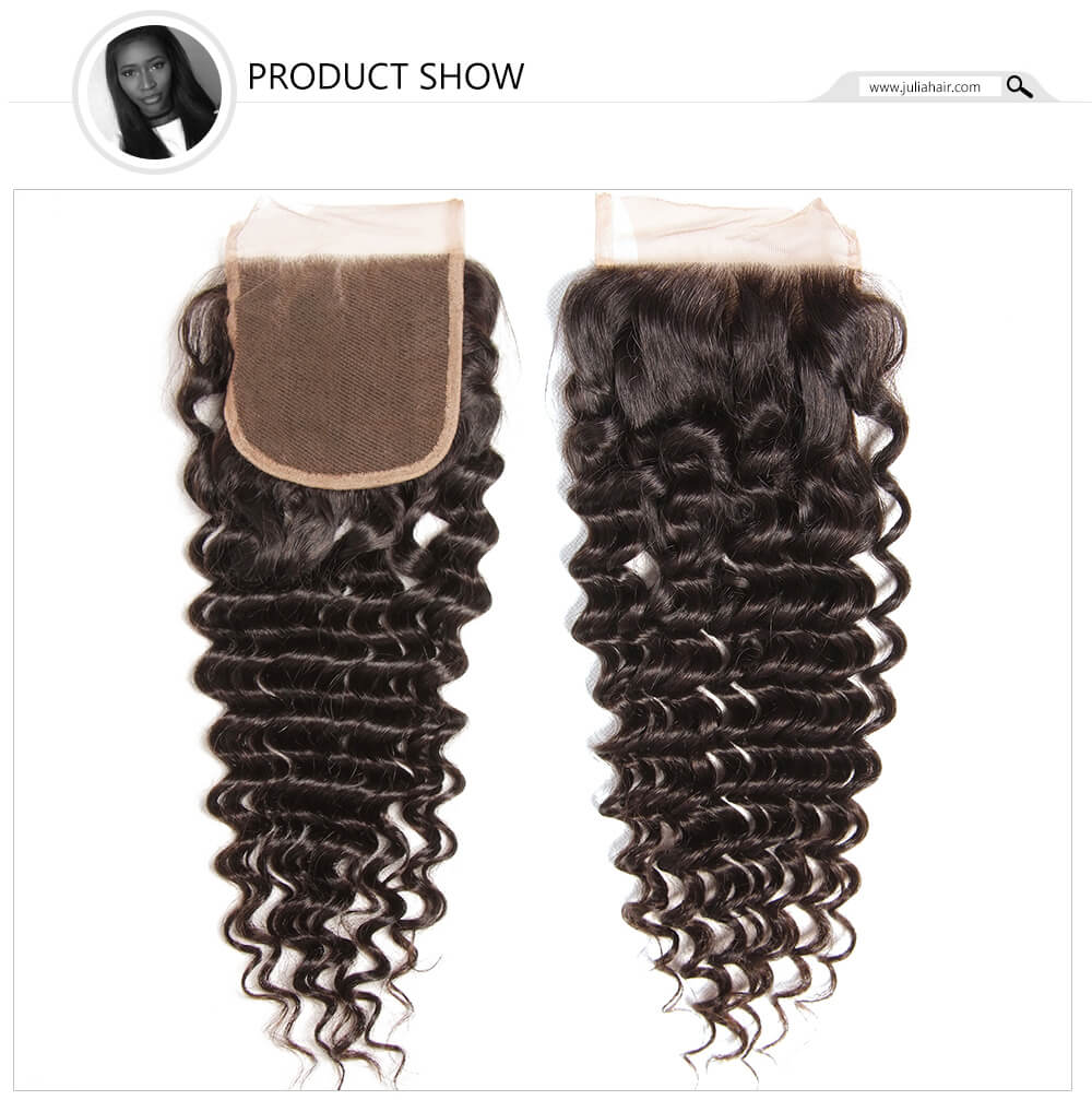 Julia 3Pcs Deep Wave Hair Bundles With Closure