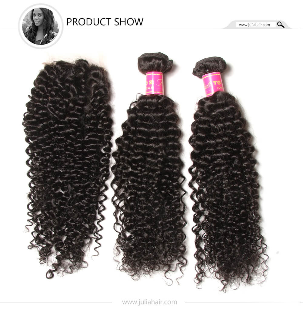 4 Bundles Peruvian Curly Human Hair