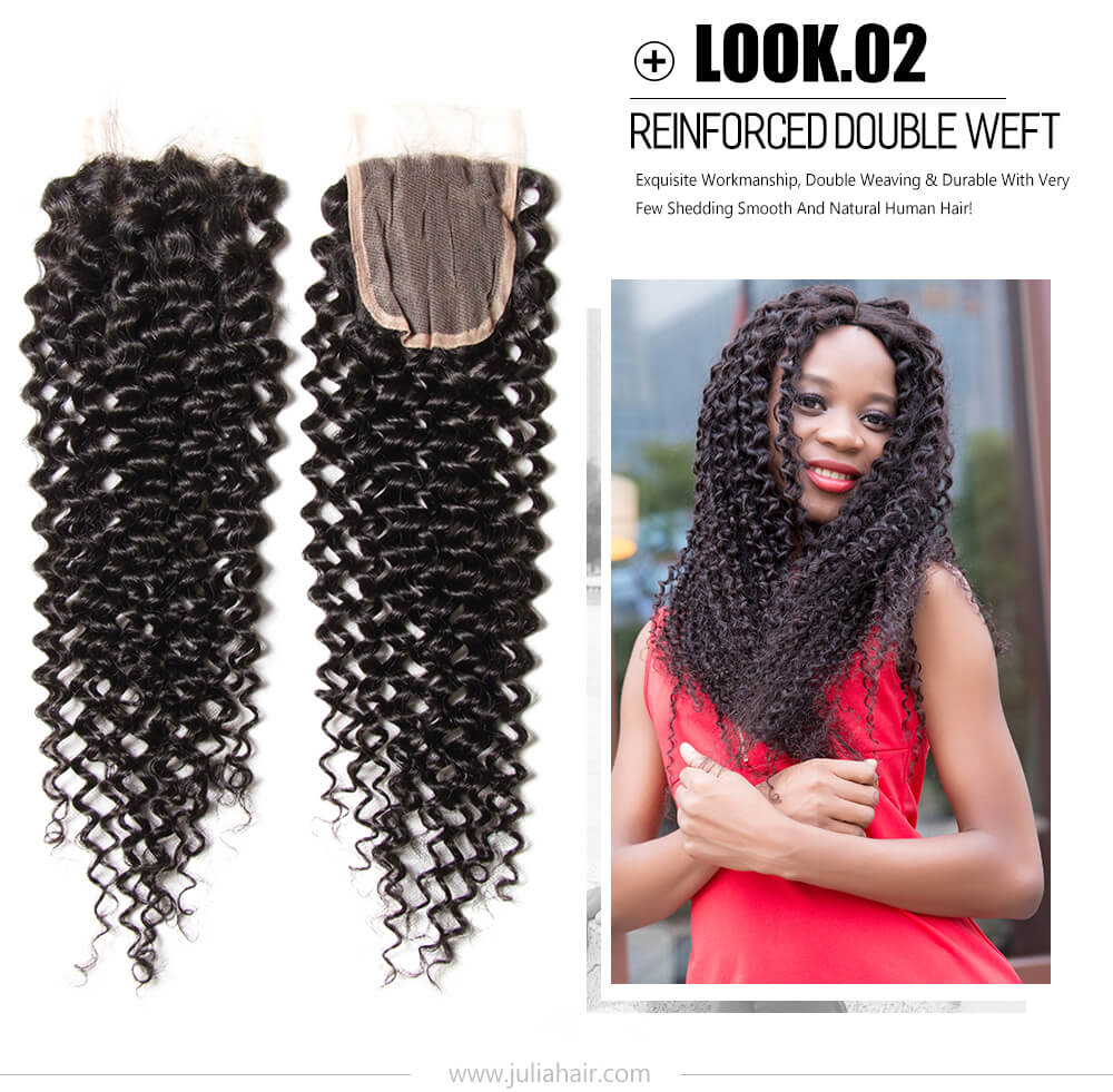 Curly Hair Lace Closure For Cheap