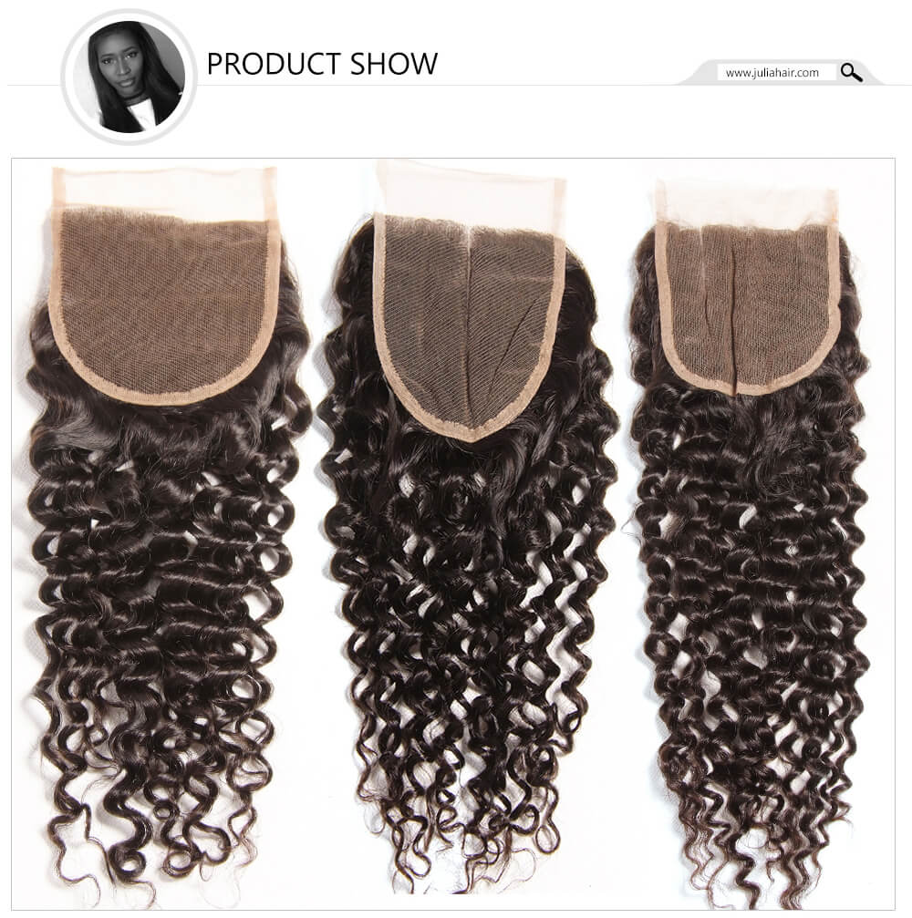 1 piece curly lace closure