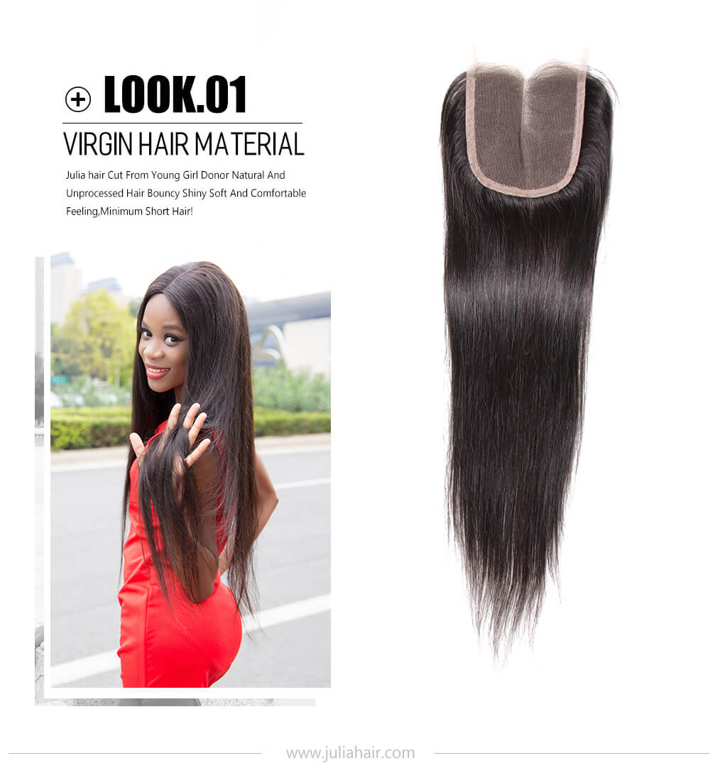 straight hair closure