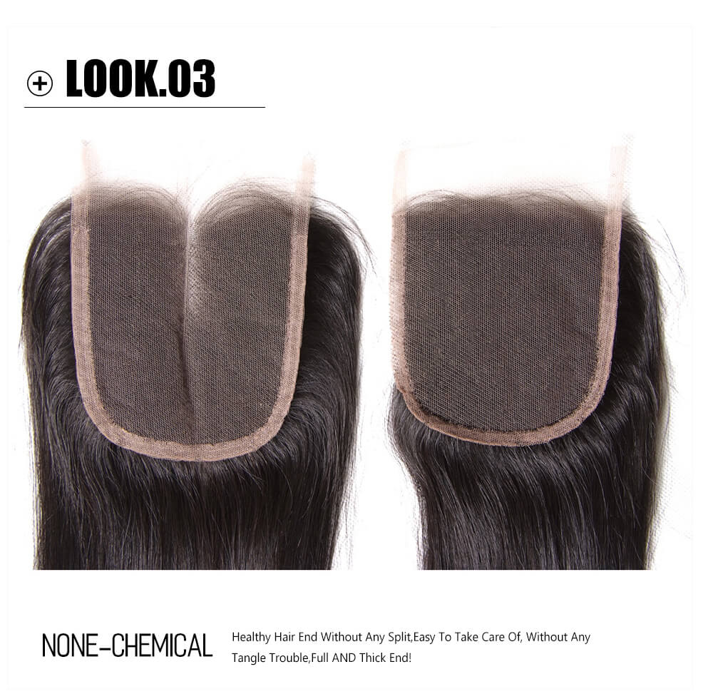 virgin straight hair lace closure
