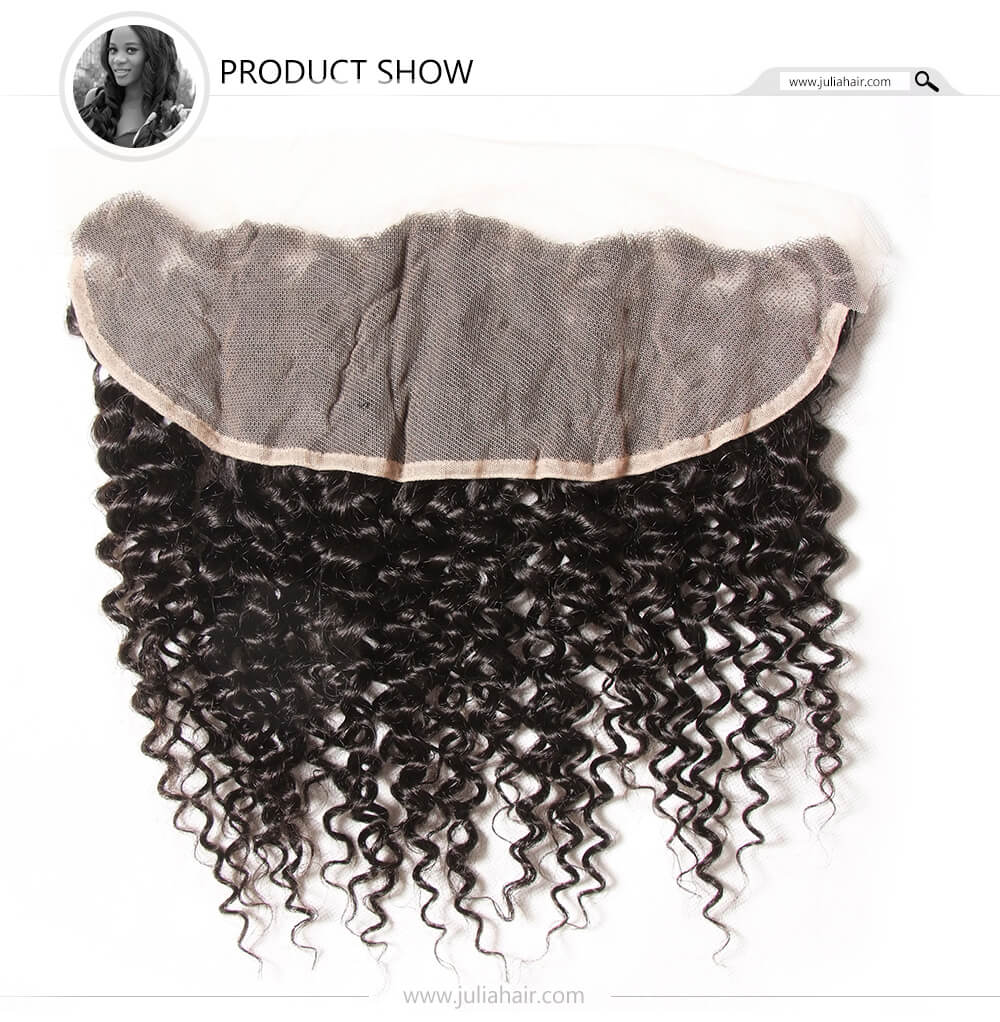 virgin curly lace frontal hair