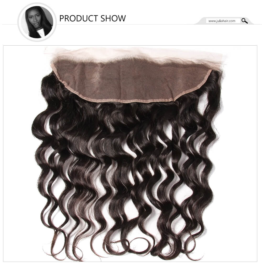 13x4 natural wave lace frontal hair