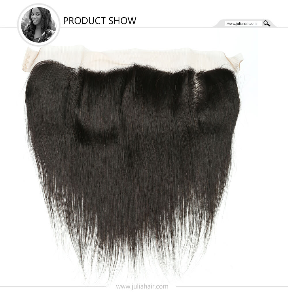 virgin straight hair lace frontal