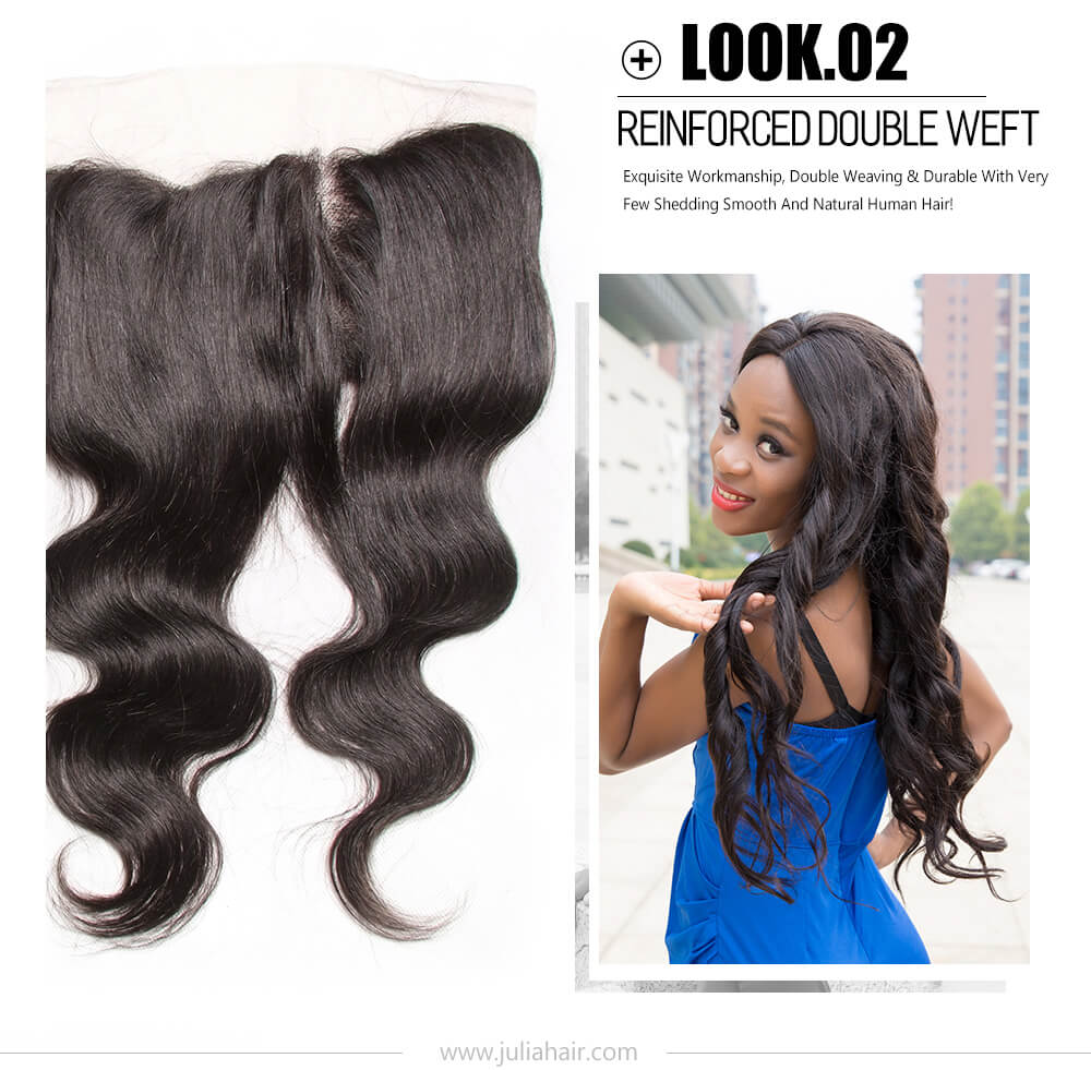 virgin body wave hair bundles with lace frontal