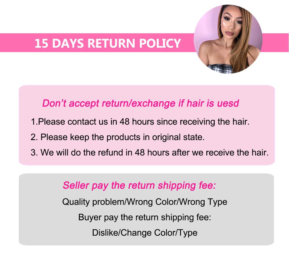 Julia Hair Return Policy