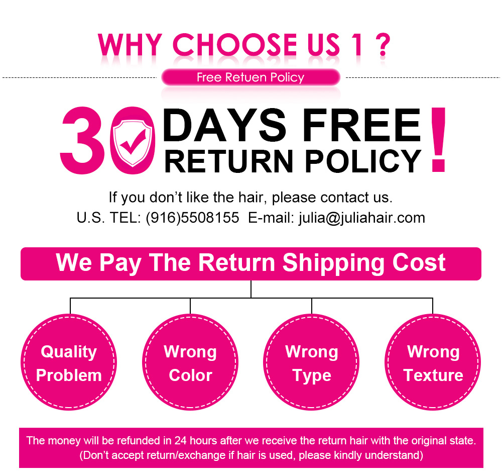 30 Days Free Return Policy